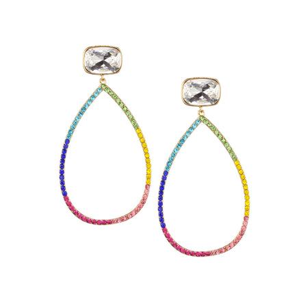 ABRIANA DROP EARRING-RHODIUM/WHITE