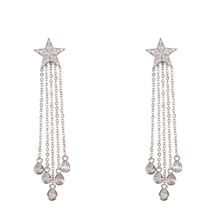 NADIRA EARRING-RHODIUM WHITE
