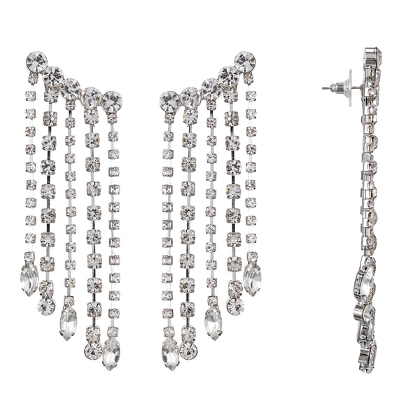 WINSLEY CHANDELIER EARRING-WHITE