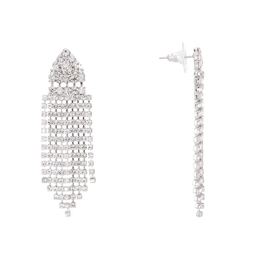 ZARAGOZA EARRING-RHODIUM WHITE