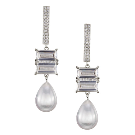 DANNIE EARRING-RHODIUM