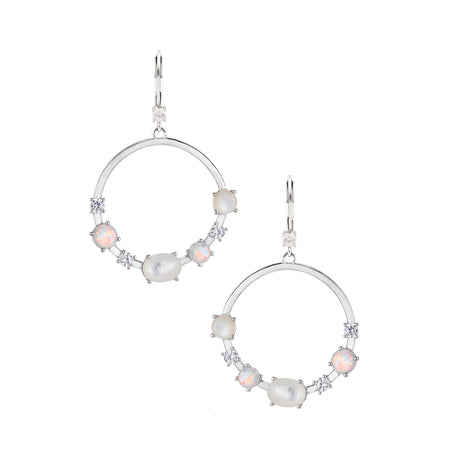 JENNIFER EARRING-GOLD/WHITE/PINK