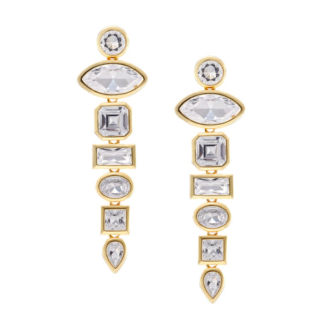 JACEY DROP EARRING-GOLD/WHITE