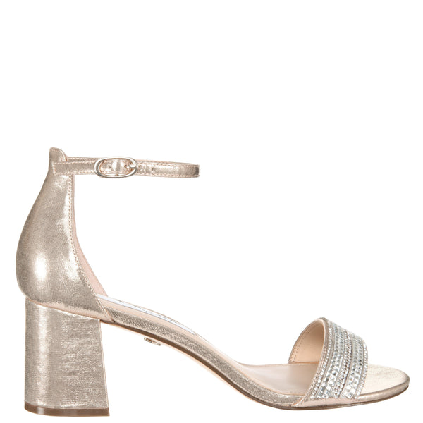 ELENORA-TAUPE REFLECTIVE SUEDETTE