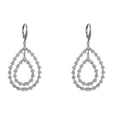 PAMINA DROP EARRING-RHODIUM