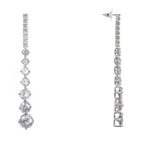 RAYNA DROP EARRING-RHODIUM