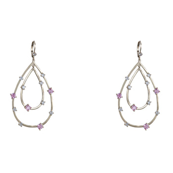 TANA DROP EARRING-GOLD/LIGHT PINK