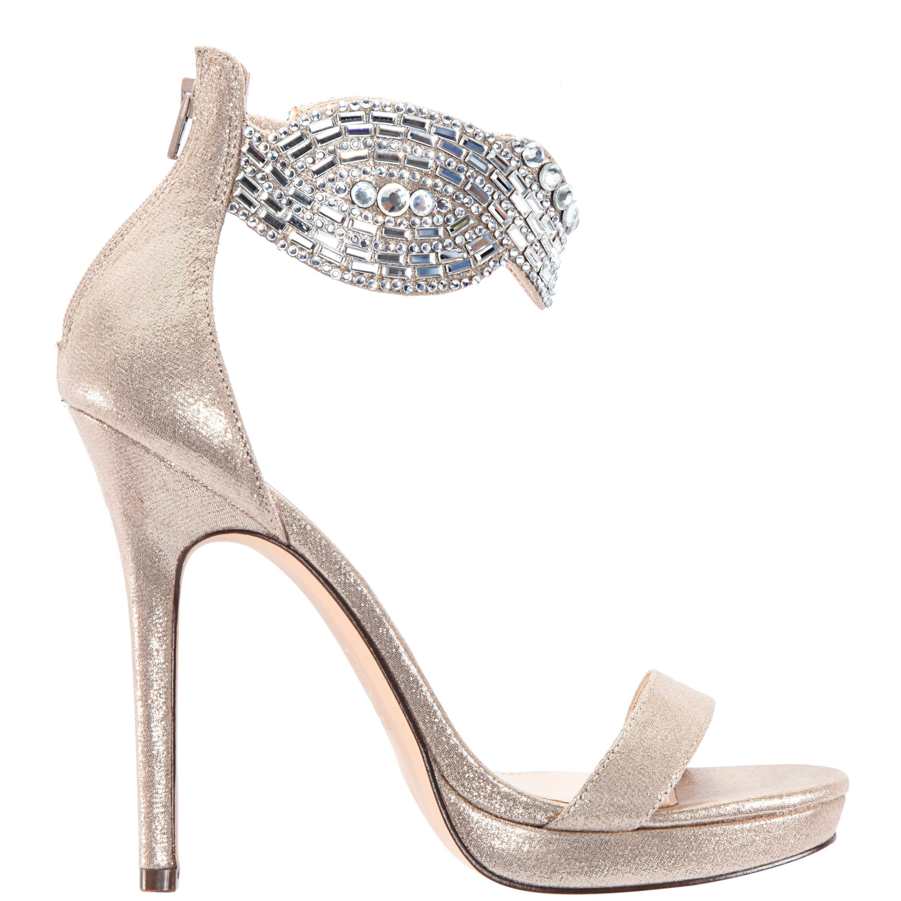FAYTH-TAUPE REFLECTIVE SUEDETTE - TAUPE