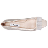 FERRIE-PLATINO METALLIC FAUX SUEDE