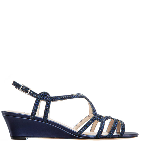 NAURA-NEW NAVY SATIN