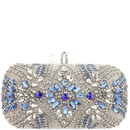 CHICAGO-NAVY/SILVER RHINESTONE