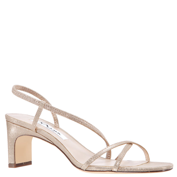 GIZEL-TAUPE-REFLECTIVE SUEDETTE