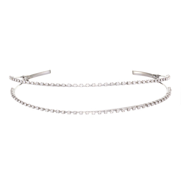 ARIONNA HEADBAND-RHODIUM WHITE