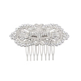 LUCERNE HAIR COMBS-WHITE