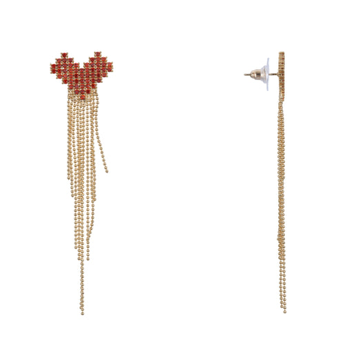 IONE EARRING-GOLD PLATING RED