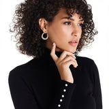 JAELIE EARRING-WHITE GOLD