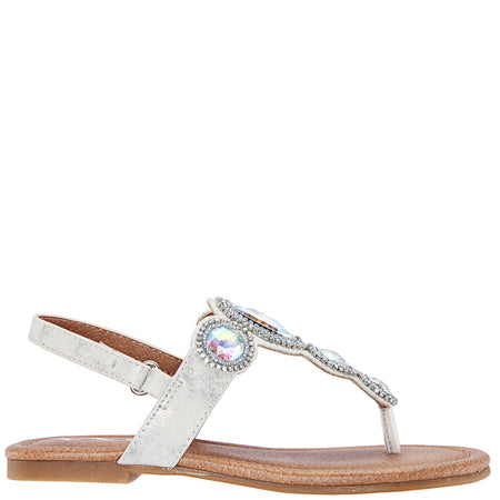 ESTHER-OFF WHITE-EMBOSSED METALLIC