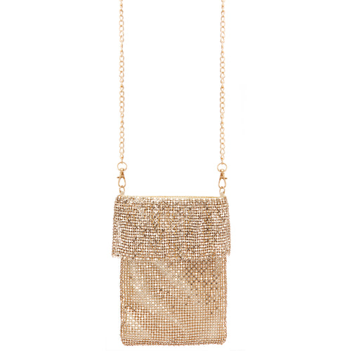 KENSLEY-GOLD METALLIC MESH