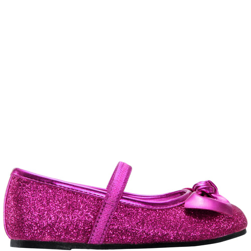 LARABETH-TODDLER-BERRY METALLIC GLITTER