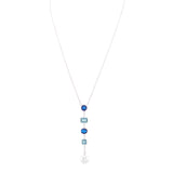 LARYN NECKLACE-SAPPHIRE OMBRE