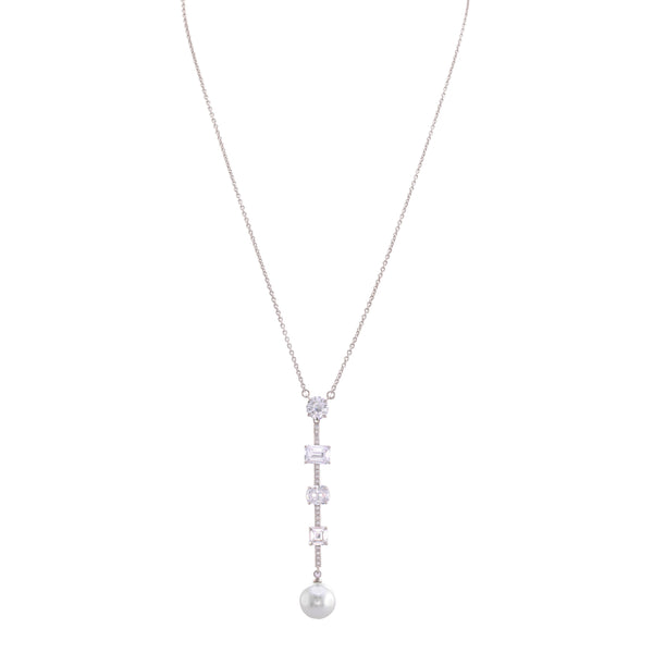 LARYN NECKLACE-WHITE