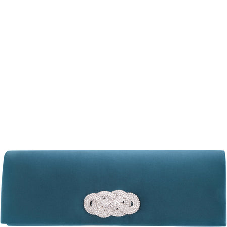 DORELLA- TEAL STRETCH SATIN