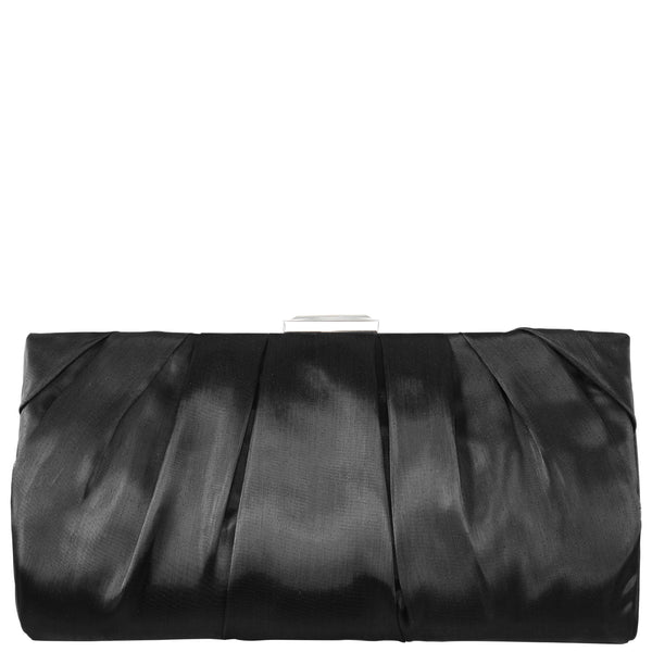 MADISON-BLACK SHINY PLEATED