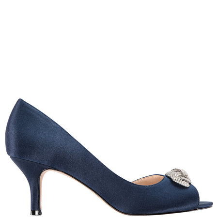 CHIANNE-LT BLUE SATIN