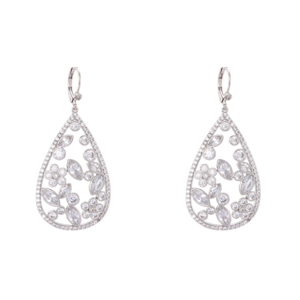 MATALIN EARRING-WHITE GOLD