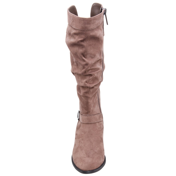 MERIS-TAUPE-BURNISHED MICROSUEDE
