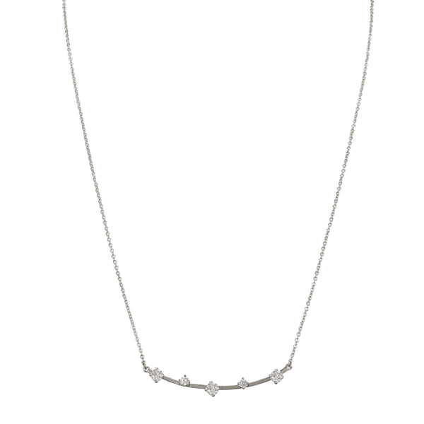 ABREE NECKLACE-RHODIUM