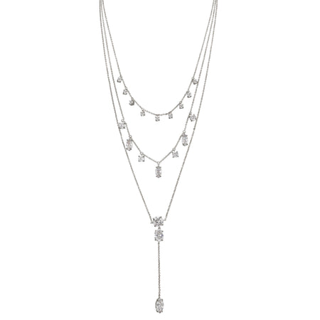 ELORA NECKLACE-RHODIUM