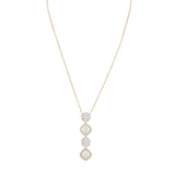 JACEY NECKLACE-GOLD/WHITE