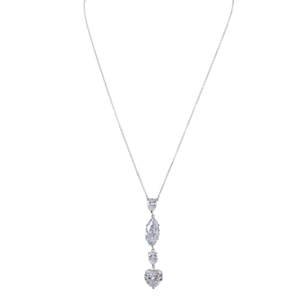 KOLINA NECKLACE-RHODIUM