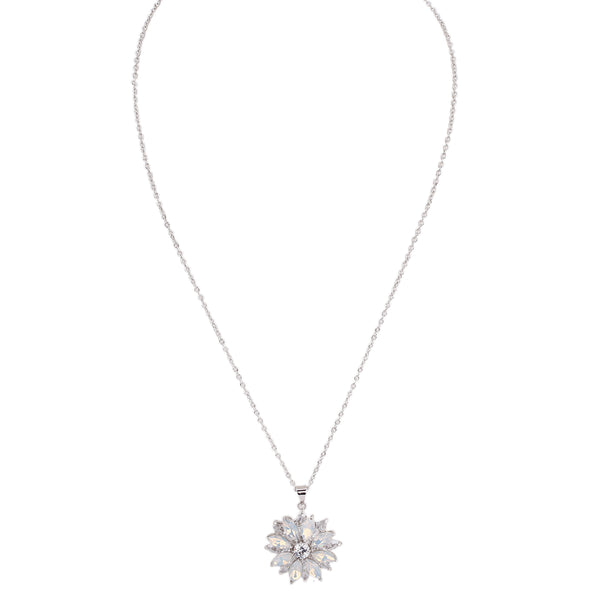 LISANN NECKLACE-RHODIUM WHITE