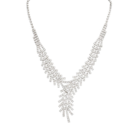 ZIVA NECKLACE-RHODIUM WHITE