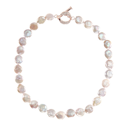 DANNIE NECKLACE-RHODIUM