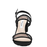 NELLEY-BLACK-LUSTER SATIN/MESH