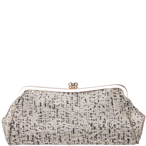 NIKA-IVORY METALLIC TWEED
