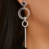 ALITA DROP EARRING-RHODIUM/CLEAR/WHITE