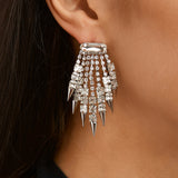 OCTAVIA DROP EARRING-WHITE