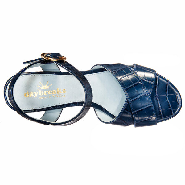 NOTE-NAVY MOCO CROCO