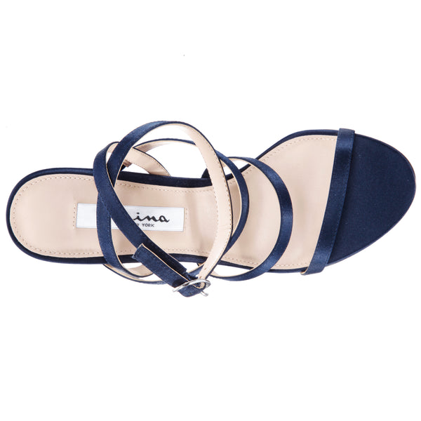 SHALYN-NEW NAVY-LUSTER SATIN