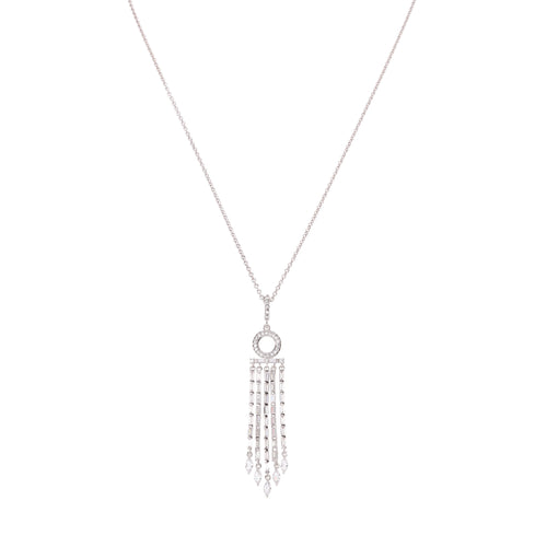 SHILOH NECKLACE-WHITE GOLD