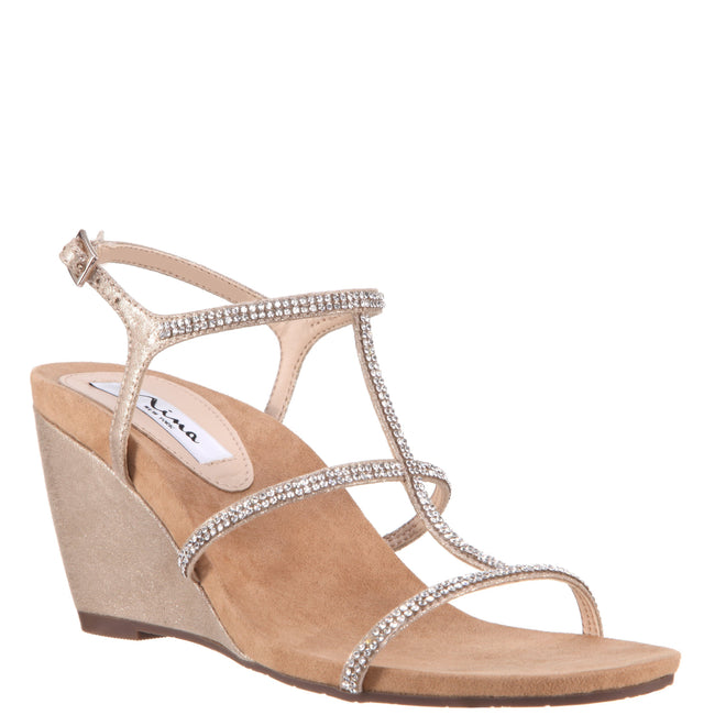 SIANA-TAUPE REFLECTIVE SUEDETTE