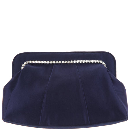 MADISON-NAVY SHINY PLEATED
