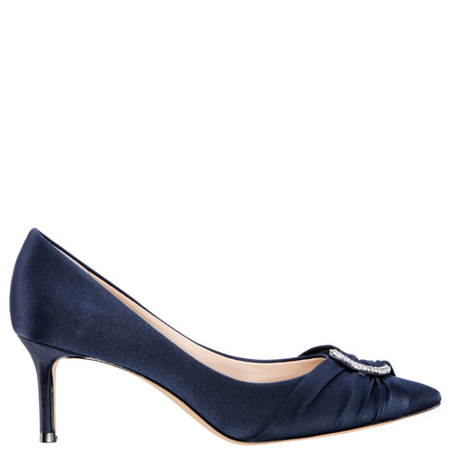 SUE-NEW NAVY LUSTER SATIN
