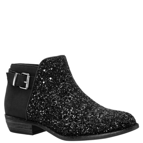 TEA-BLACK NUBUCK/GLITTER