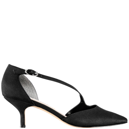 COLLINA-BLACK SATIN