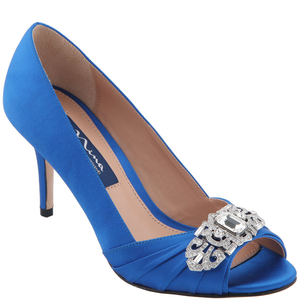 VERITY-COBALT SATIN